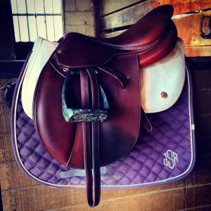 My saddle with my Ogilvy Half Pad.