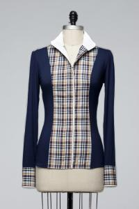 Le Fash Navy & Plaid Show Shirt. Photo Credit to Twitter.com/LeFashNY