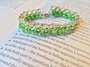 Crystal Curb Chain Bracelet. Photo Credit: BarnQueenAccessories.com