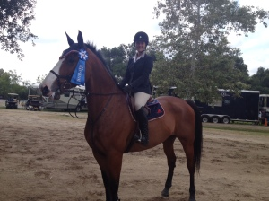 Dani & Celebrity showing off their blue ribbon.