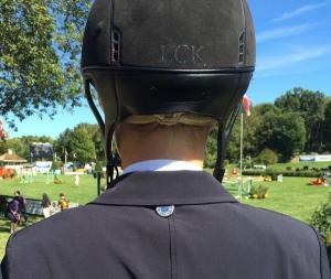 Lillie Keenan & her Personally Preppy helmet monogram.