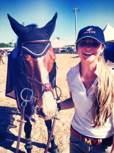 Lauren & Armani at WEF this past winter. Photo Courtesy of Lauren Mahoney.