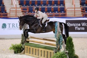 Kendra & Squish schooling over some fences at PA National. Photo Courtesy of Kendra Harnch.