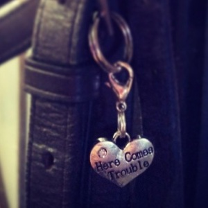 """""""Here comes trouble"""" charm for the girl with the naughty pony ;)"""