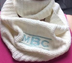 My Barn Child knit infinity scarf.