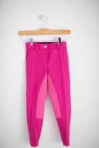 Annie's Equestrienne Apparel Sticky Buns Breeches in Razberry.