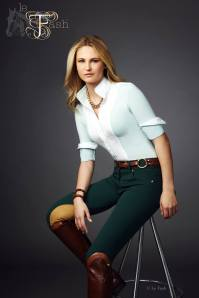 Lauren Mahoney modeling the Pistachio CC Long Sleeve & Central Park City Breeches. Photo Credit to Le Fash.